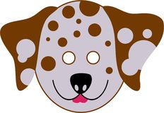 Spotty dalmation mask Royalty Free Stock Photo