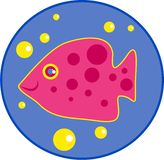 Spotty fish. Cute fish with spots Royalty Free Stock Photo