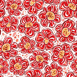 Spotty flowers seamless pattern. Royalty Free Stock Images