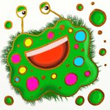 Spotty Germ Painting Royalty Free Stock Photos