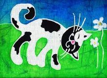 Spotty kat stock illustratie