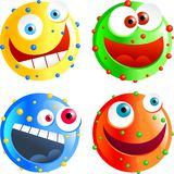 Spotty smilies Stock Image