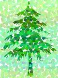 Spotty tree. Spotty christmas tree Royalty Free Stock Image