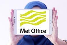 Spotykający biuro pogody usługa logo fotografia stock
