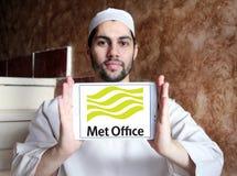 Spotykający biuro pogody usługa logo obrazy stock
