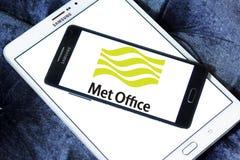 Spotykający biuro pogody usługa logo zdjęcie stock