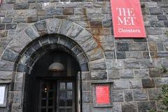 Spotykający Cloisters Wielkomiejski muzeum sztuki obrazy royalty free