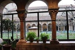 Spotykający Cloisters Wielkomiejski muzeum sztuki zdjęcia royalty free