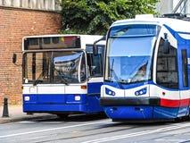 spotykający staci pociągu transport miastowy Obrazy Royalty Free