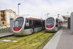 spotykający staci pociągu transport miastowy Obraz Royalty Free