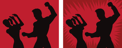 Spousal abuse icon. Illustration depicting spousal abuse or violence Stock Photo
