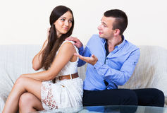 Spouse forgiving partner Stock Photography