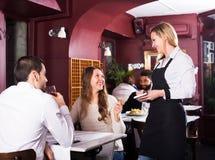 Spouses having date in restaurant Royalty Free Stock Photo