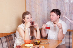 Spouses talk Royalty Free Stock Photography