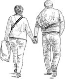 Spouses on a walk Royalty Free Stock Photos
