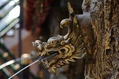 Spout. Dragon head shape spout Stock Image
