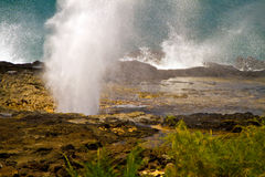 Spouting Horn Blowhole, Kauai, Hawaii Stock Photos