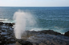 Spouting Horn Blowhole on Kauai Island Royalty Free Stock Photography