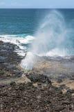 Spouting Horn, Kauai, Hawaii Royalty Free Stock Photos