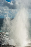 The spouting horn kauai hawaii Stock Images