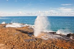 Spouting Horn in Kauai south shore - Hawaii Stock Photography