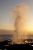 Spouting Horn off Poipu in Kauai stock image