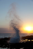 Spouting Horn off Poipu in Kauai Stock Image