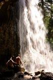 Spouting Rock Waterfall Stock Image