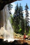 Spouting Rock waterfall, Hanging lake, Glenwood Canyon, Colorado Royalty Free Stock Photos