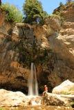 Spouting Rock waterfall, Hanging lake, Glenwood Canyon, Colorado Royalty Free Stock Photo