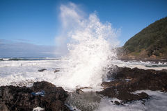 Spouting wave Royalty Free Stock Images