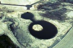 Spowodowany przez człowieka jezioro Obrazy Royalty Free