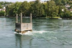 Spowodowany przez człowieka vortex n rzeka Fotografia Royalty Free
