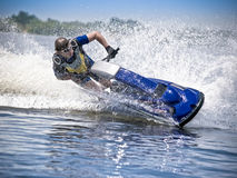 spped的喷气机滑雪 免版税图库摄影