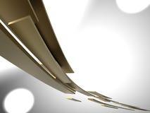 spped guld- plattor Arkivbild