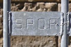 SPQR,罗马,意大利 免版税图库摄影