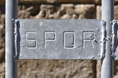 SPQR, Rome, Italy Royalty Free Stock Photography