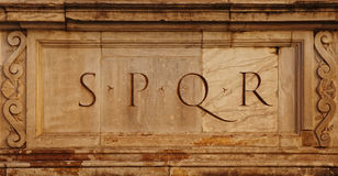 SPQR Royalty Free Stock Image