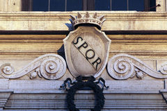 SPQR Royalty Free Stock Photography