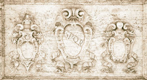 SPQR -Senatus Populusque Romanus 免版税库存照片
