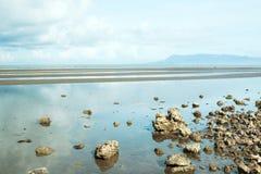 Sprängd sikt av den Cambodja sjösidan royaltyfria foton