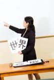 språklärare Arkivbild