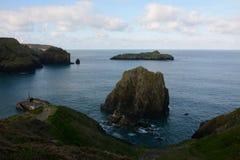 Spröjsliten vik Cornwall UK arkivbild