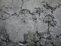 Sprünge auf Zement Stockbild