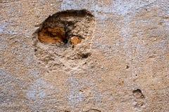 Sprünge und Kratzer auf der Wand Stockbilder