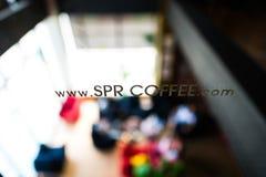 SPR Coffee. Beautiful backdrop SPR LOGO Coffee Royalty Free Stock Photos