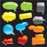 Sprache-Ballone Lizenzfreies Stockbild