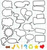 Sprache-Ballone (Sprache-Luftblase) Lizenzfreie Stockbilder