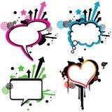 Sprache-Ballone (Sprache-Luftblase) Lizenzfreie Stockfotografie