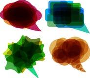 Sprache Ballons stock abbildung